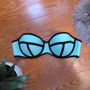 🔥 4 for $20 - Neon Blue Bikini Top
